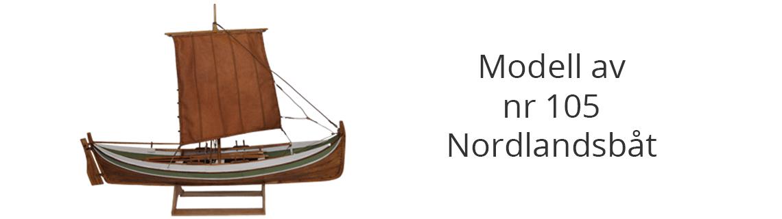 Modell Nordlandsbåt