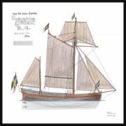 100A - Sail plan Postjakt Hiorten