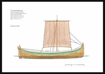 105A - Segelritning nordlandsbåt, färing