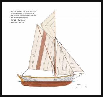 33A - Sail plan lotsbåt 'Skum'