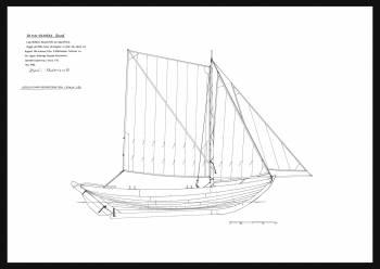 35E - Sail plan spritsail vrakeka