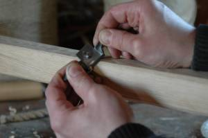 Making the tiller