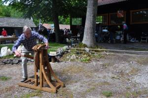 Rope making on the mill day